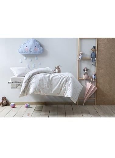 Hibboux Dream in the Rain Bebek Nevresim Takımı Beyaz